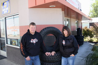 Jeff and Tina Tate, owners of Cloverdale Automotive & Tires